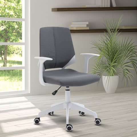 Techni Mobili Height Adjustable Mid Back Office Chair, Grey