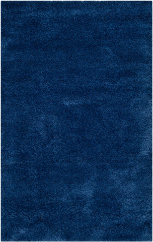 "Milan Shag 5'-1"" X 8' Navy Rectangular Rug by Safavieh"