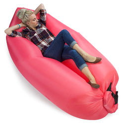 Inflatable Camping Couch, Salmon