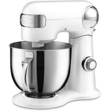 Cuisinart 5.5-Qt. Tilt-Back Head Stand Mixer with 1 Power Outlet in White