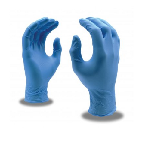 Nitrile Food Service Gloves, 100 Count (Large, Blue)