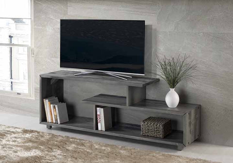 "60"" Rustic Solid Wood Console - Grey"