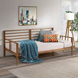 Walker Edison Mid-Century Modern Solid Wood Spindle Daybed - Caramel