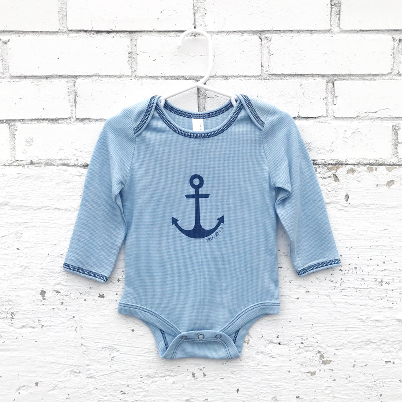 Onesie -Anchor Long Sleeve (light blue)