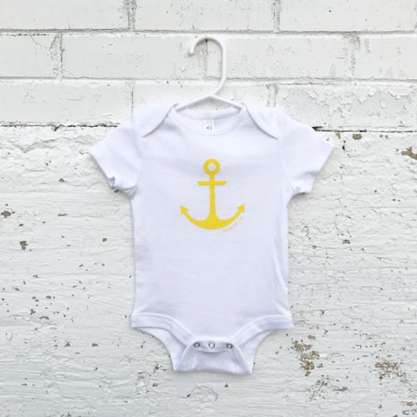 Onesie - Anchor (white/yellow)