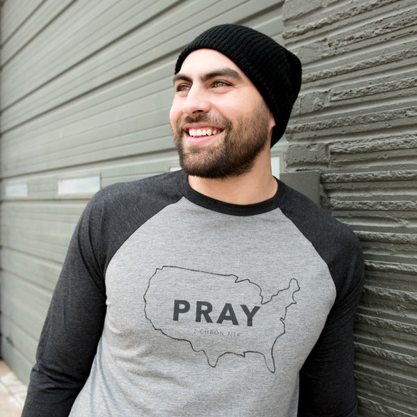 Pray for the USA Men's/Women's Unisex Baseball Tee