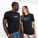 PRAY for the USA Unisex Crew Tee (charcoal black/white)