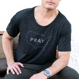 PRAY for the USA Men's Wide Neck Tee