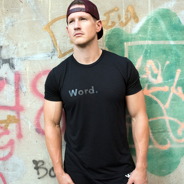 Word. Black on Black Men's Tee