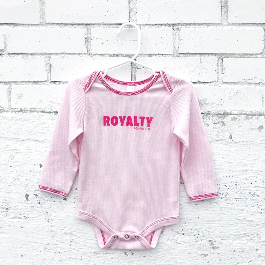 Onesie -Royalty Long Sleeve (light pink)
