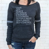 Sweatshirt - Fruit of the Spirit (Eco Black w/ Sport Stripes)