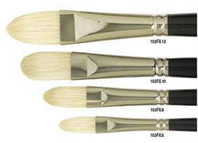 103FIL Art Basics Bristle Filbert Brush Long Handle