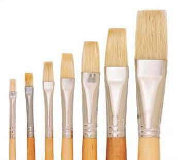 579 Eterna Brush Flat Brush Long Handle