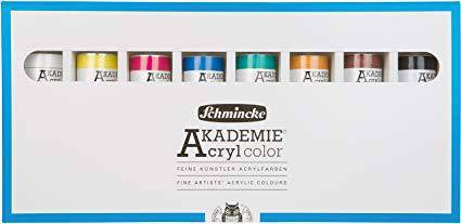 Schmincke Akademie Acrylic Colour Set 20ml