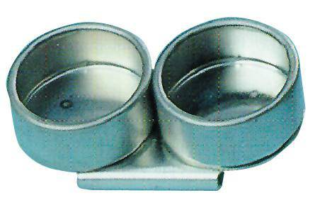 METAL DOUBLE DIPPERS 40MM NO LID