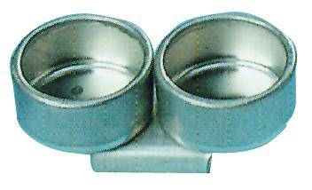 METAL DOUBLE DIPPERS 31MM NO LID