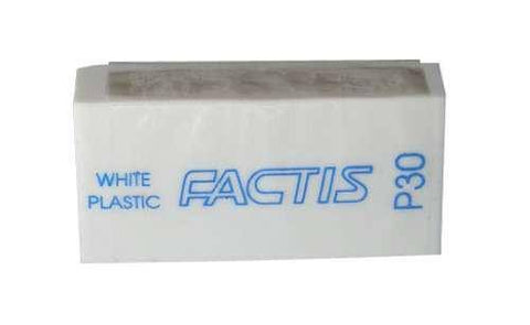 Factis White PVC Pencil Erasers P30