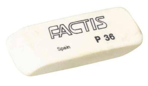 Factis White PVC Wedge Eraser P36