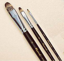 8772 Series Raphael Kevrin Mongoose Filbert Brush Long Handle