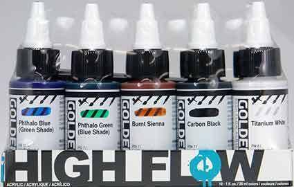 Golden High Flow Assorted Set of 10 Colours 30ml each