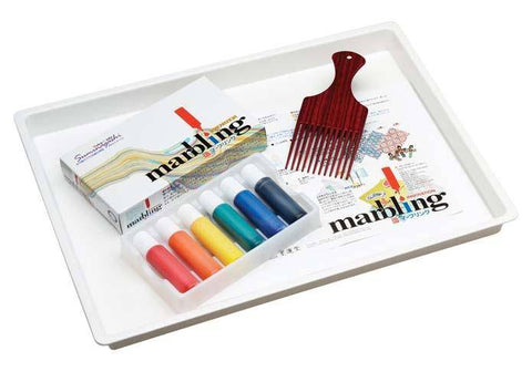 Marbling Ink Tray Comb & Paper Set Bukundo