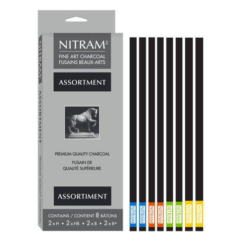 Nitram Acadamie Fusains Assorted Pack of 8