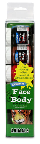 Derivan Face & Body Paint various types of 5 X 40ml