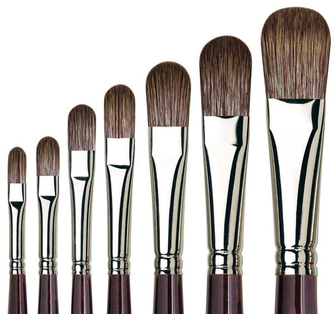 DA VINCI GRIGIO SYNTHETIC FILBERT 7495 BRUSH