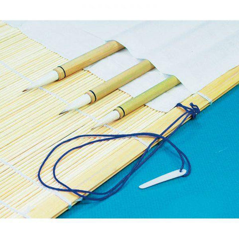 Bamboo Brush Mat Holder