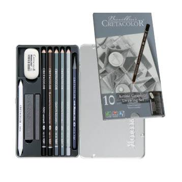 Cretacolor Artino Graphite Drawing Set of 10