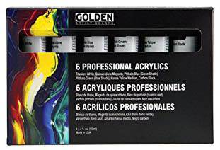 Golden Principal Professional Heavy Bodied Acrylic paint Set of 6