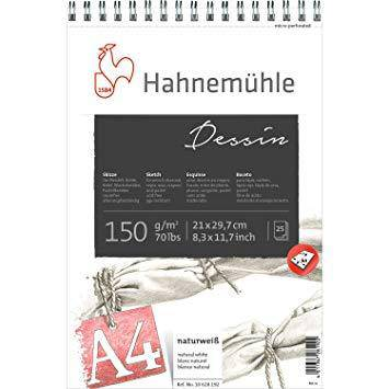 Hahnemuhle Sketch Pads Dessin 150gsm 25 sheet various sizes