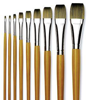 Isabey Isacryl 6562 Long Handle FLAT Artist Brushes