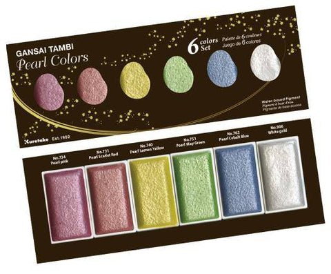 Kuretake Gansai Tambi Watercolour PEARL COLOURS Set