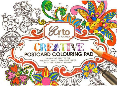 Creative  Postcard Colouring Pad -- ARTO by CAMPAP