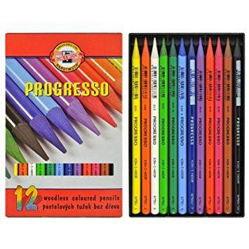 Koh-I-Noor Progresso Woodless Coloured Pencils Sets