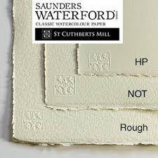 Saunders Waterford Watercolour Paper in packs of 5 sheets