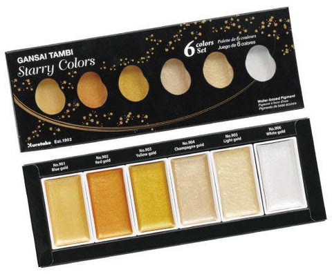Kuretake Gansai Tambi Watercolour STARRY COLOURS Set