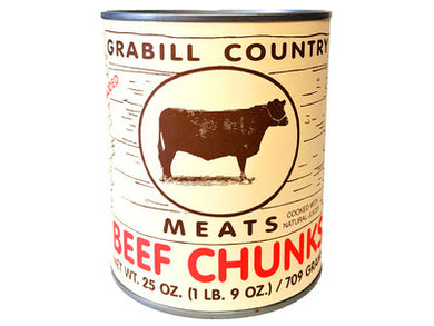 Grabill Country Meats Beef Chunks 25oz