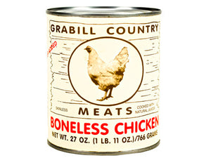 GRABILL COUNTRY MEATS BONELESS CHICKEN 27oz