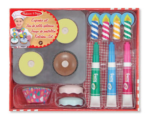 Melissa & Doug Bake & Decorate Cupcake Set