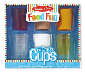 Melissa & Doug Create-a-Meal Fun - Fill 'Em up Cups-Play Food and Kitchen Accessories Role Toy