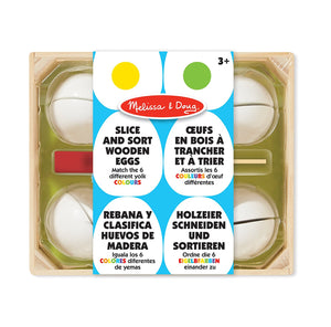 Melissa & Doug 19301 Slice And Sort Wooden Eggs