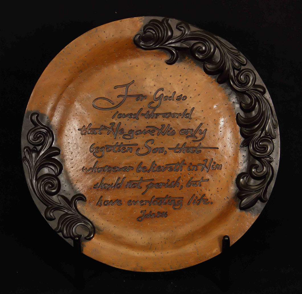 Large Embossed Plate