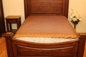 Lightweight Golden Brown Coverlet
