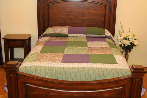 Diamond Piece Patchwork Quilt