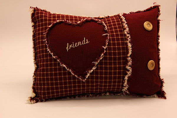 Ragged Edge Pillow - Friends
