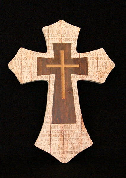 Cross with Lord's Prayer
