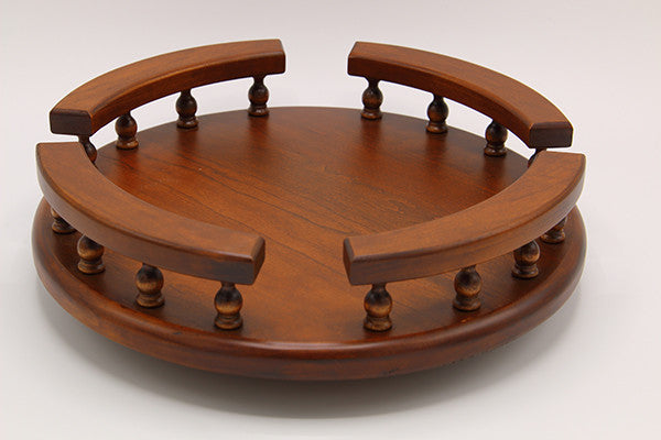 Cherry Wood Lazy Susan with Rail