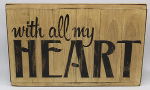 With all my heart